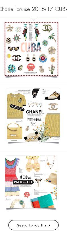 """Chanel cruise 2016/17 CUBA"" by greengoblinz ❤ liked on Polyvore featuring Chanel, Packandgo, cuba, chanelcuba, Miu Miu, Benetton, miumiu, Alexander McQueen, Loeffler Randall and McQueen"