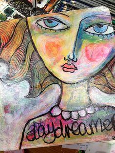 Original Mixed Media Art by Rachelle Panagarry by ArtEyeCandy