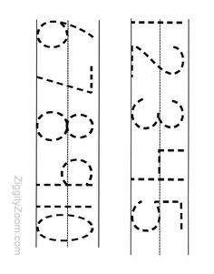 printable numbers tracing worksheet for preschool - Preschool Tracing Pages