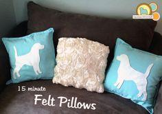 Fast easy faux applique - felt pillow tutorial