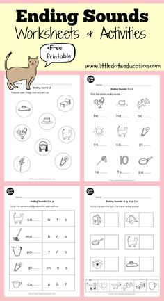 Download 25 worksheets and activities to teach beginning sounds to ...