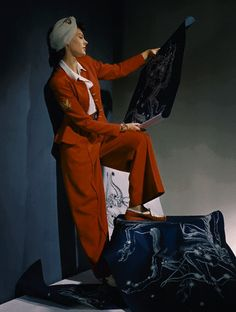 Flickr. 1940 red wool suit