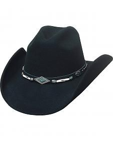 Master Hatters Womens Julia Cowgirl Hat Black Small