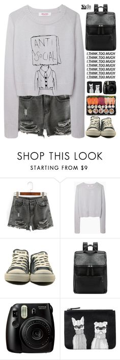 """""""SheIn 5"""" by scarlett-morwenna ❤ liked on Polyvore featuring Organic by John Patrick, Converse, Monki and vintage"""