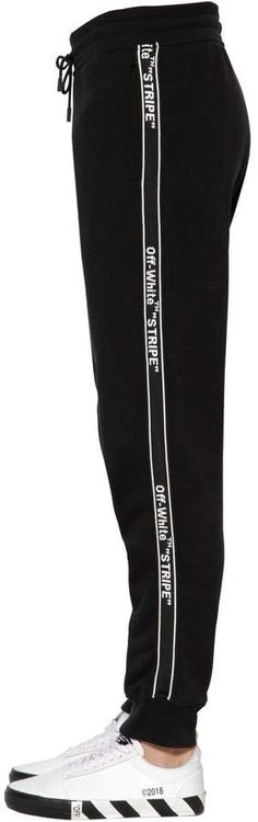 OFF WHITE, Logo tape cotton sweatpants, Black, Luisaviaroma - Elastic waistband with drawstring. Logo placement may vary. Mens Athletic Pants, Cotton Sweatpants, Off White, Adidas Jacket, Tape, Logo, Jackets, Black, Fashion