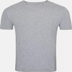 This light gray round necked, half-sleeved plain T-shirt gives a casual fit to you for all seasons. Wear this super-comfortable cotton T-shirt with denims and trousers or for a workout or even under a casual jacket.
