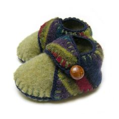 Knit & Felted baby shoes/slippers