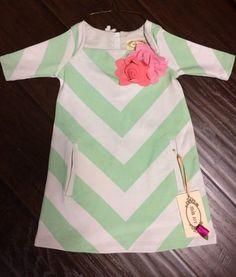 Check out this listing on Kidizen: Jayme Green Stripe Dress via @kidizen #shopkidizen