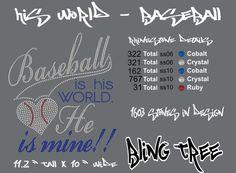 Baseball Rhinestone Design - Download File