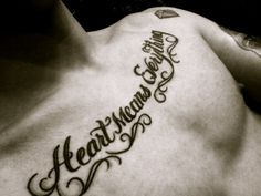 Heart Means Everything... Guys that have theese chest tats and good bodys... HOTTEST  this ever(: