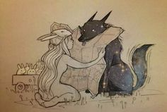 chiara bautista, The Cosmic Wolf and the Bunny Girl Art And Illustration, Illustrations, Chiara Bautista, Manga Anime, Anime Art, Wolf, Drawn Art, Art Design, Oeuvre D'art