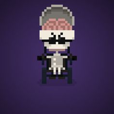 Famous Characters in Pixel Art Dr. Finkelstein from The Nightmare Before…