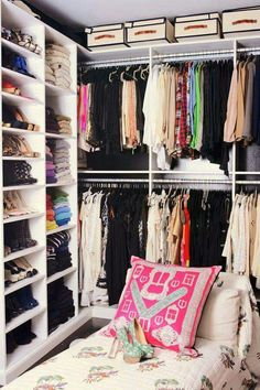 Established Organization Habits Maintain Organized Closets | Develop thoughtful rituals around your personal organization: launder, hang, or fold.