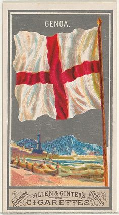 Genoa, from the City Flags series (N6) for Allen & Ginter Cigarettes Brands