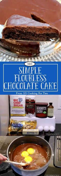 Easy step by step photo instructions for eloquent and decadent flourless chocolate cake you can do with no special skills via @drdan101cft