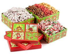 Season Greetings, Merry Christmas Stocking Stuffer Celebration Gift Tower Filled With Christmas Tree Pretzels, Roasted Salted Red Pistachios, Cashews, Smoked Almonds, Holiday Old Fashioned Candy Mix, Holiday Gift Basket For Men, Women And Family Of All Ages, By Pistachio Gifts® - http://www.fivedollarmarket.com/season-greetings-merry-christmas-stocking-stuffer-celebration-gift-tower-filled-with-christmas-tree-pretzels-roasted-salted-red-pistachios-cashews-smoked-almonds-holi