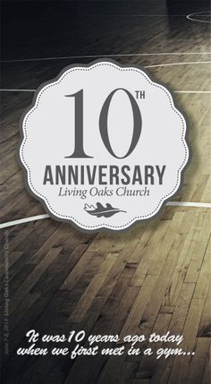 10th Anniversary :: June 7/8, 2014 | Bulletin Cover | Created By The LOCC Communications Team | © 2014 Living Oaks Community Church. All Rights Reserved.