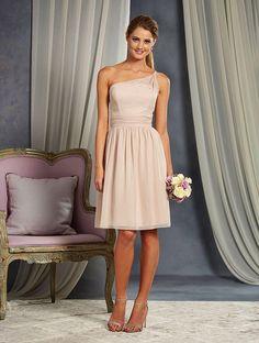 Alfred Angelo 7369S One Shoulder Short Bridesmaid Dress