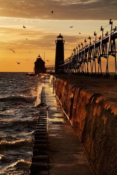 sea-passion:  Grand Haven Breakwater Lighthouse, Lake Michigan.