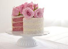 Himbeer Mascarpone Torte mit Rosen Raspberry Mascarpone Torte with Roses