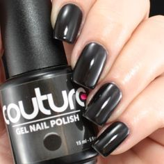 "#1 ""Little Black Dress"" #gelnailpolish #gelnails #soakoffgel #soakoff #mani #manicure #couturegelnailpolish #nailporn"
