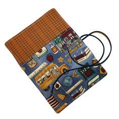 School Days Crochet Hook Cozy Roll Blue Rustic by cozylittlecorner, $7.00