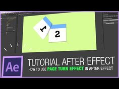 After Effects Tutorial - How to use page turn effect in after effect - YouTube