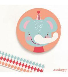 Cuadro infantil Elefante feliz