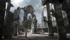 Charles Lee Concept_Art_ruined_cathedral