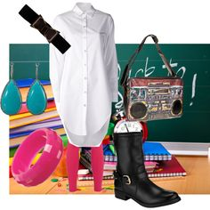 """""""First day of school"""" by mollylsanders on Polyvore"""