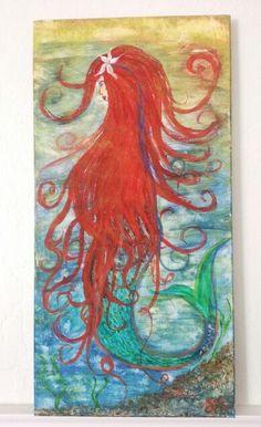 Mermaid acrylic painting art