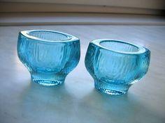 2x WAZON *SKRZYDLAK* *FUTERKO* Eryka Trzewik DROST (6738807189) - Allegro.pl - Więcej niż aukcje. Mid Century Design, Glass Art, Art Deco, Ceramics, Colour, Glasses, Tableware, Blue, Porcelain Ceramics
