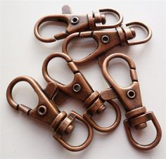 paper-and-string. Large Swivel Clip x5 Copper Antique