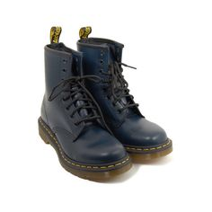 dr. martens 1460w R11821410 ($115) ❤ liked on Polyvore featuring shoes, boots, ankle booties, footwear, zapatos, women, dr martens boots and dr. martens