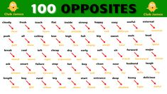 Learn English words opposites antonyms. Learn English words with a list of opposite words for kids. Improve spoken English vocabulary and English beginner words to learn daily use English words for opposites also called English antonym words pronounced in British English. Opposite Words For Kids, English Opposite Words, Learn English Words, English For Beginners, English Beginner, List Of Opposites, English Antonyms, British English, English Vocabulary
