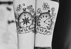 Pocket clock and compass tattoo. #tattoo #tattoos #ink #inked