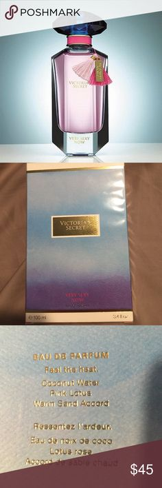 Very Sexy Now 2016 (3.4oz) perfume This is the 2016 version of very sexy now by Victoria's Secret. The scent is comprised of Coconut Water, Pink Lotus and Warm Sand Accord. Smells like summer in a bottle  The cover photo is not my photo, used to show what the bottle of the perfume looks like. This is brand new in the box, still sealed. Please let me know if you have any questions, I am always happy to help! Thanks & happy poshing. :) Victoria's Secret Other