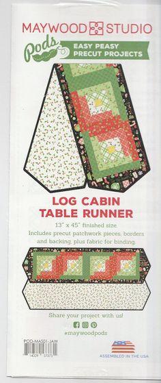 Jingle all the Way Block Log Cabin Table Runner #supplies @EtsyMktgTool http://etsy.me/2rJkXoF #kimberbell #christopherson #jingle