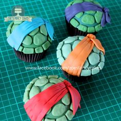 Tmnt Cupcakes  on Cake Central                                                                                                                                                                                 More