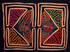 """These molas measures 15.5"""" x 11"""" each. Symmetry is what appeals to me. Shipping included within the USA."""