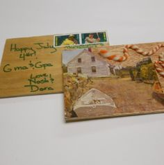 Wooden postcards for a gift