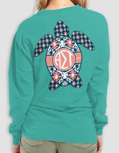 $26 - Alpha Sigma Tau - Turtle Long Sleeve - Comfort Colors! Available to order until 12.15!!