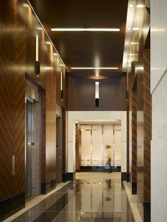 elevator lobby | ELEVATOR LOBBY Lobby Interior, Interior Architecture, Commercial Design, Commercial Interiors, Hotel Interiors, Office Interiors, Elevator Design, Hotel Corridor, Elevator Lobby
