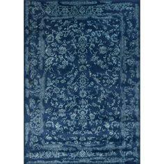 Shop Joss & Main for your Nicole Rug in Navy & Aqua. The Florence collection features a series of elegant, intentionally distressed style designs that can integrate seamlessly into interiors both classic and current.