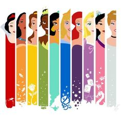Marca páginas princesas Disney - Disney's Princesses bookmarks