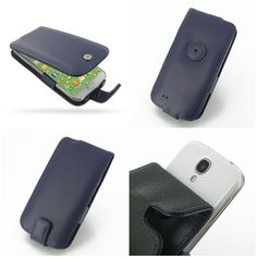 PDair Leather Case for Samsung Galaxy S4 SIV LTE GT-i9500 GT-i9505 - Flip Type (Purple)