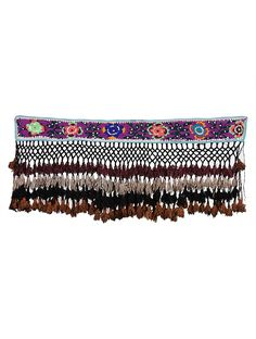 Buy Multicolor Vintage Purple Suzani embroidered Cotton and Wool Wall Hanging with Sequins Beads Shells Art Finds The Connoisseur's Pick Collectible textiles braided home accents raku pottery more Online at Jaypore.com