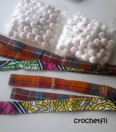 collier en tissus wax Fabric Necklace, Fabric Jewelry, Jewelry Art, Diy Collier, Diy Wax, African Crafts, Fabric Beads, African Jewelry, Sewing Patterns Free