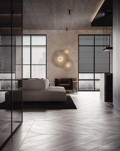 Trendy Home Office Ideas For 2 Spaces Ideas Apartment Interior Design, Modern Interior Design, Interior Architecture, Luxury Interior, Floor Design, House Design, Br House, House Inside, Trendy Home