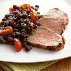 chipotle marinated pork tenderloin with black bean salsa pork ...